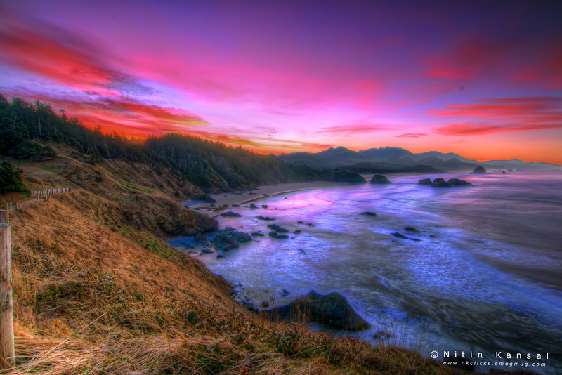 Golden hour - Ecola state park..<br /> <br /> Thanks a lot to all of you for lovely comments and liking of my yesterday's HDR of Seattle!!