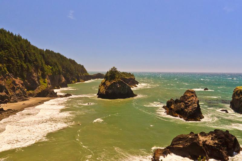 A seascape taken June 15, 2011 near Brookings, OR .