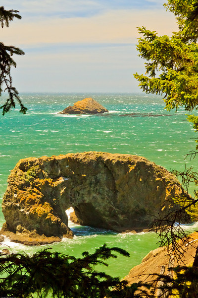A seascape taken June 15, 2011 near Pistol River, OR.