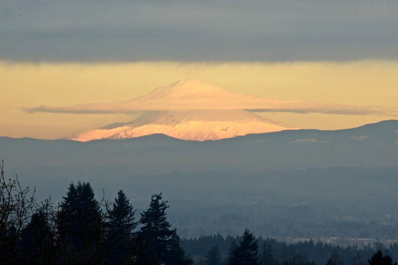 Lenticular Cloud Cap on Mt Hood