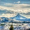 A few pine needles to frame the mountain