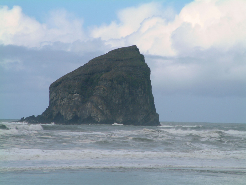 A Haystack rock by Pacific City, Oregon