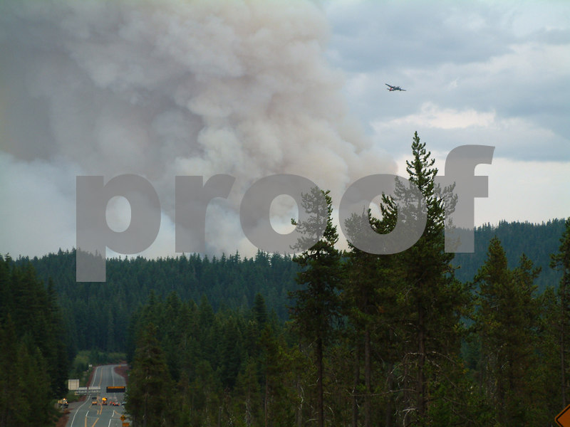B & B complex fire from August 2003 - shot from hwy 22 looking East - Oregon