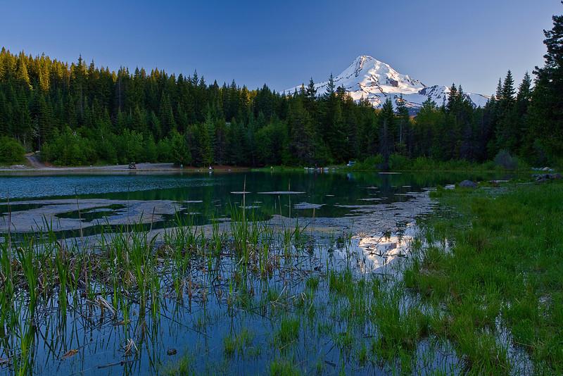 Oregon, Hood River Valley,Mount Hood, Pond, Sunset, Landscape, 俄勒冈, 胡德河流域,日落, 风景