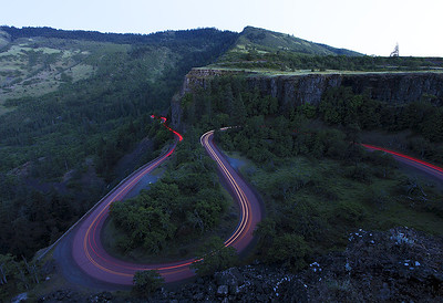 Car Trails at Rowena Loops.