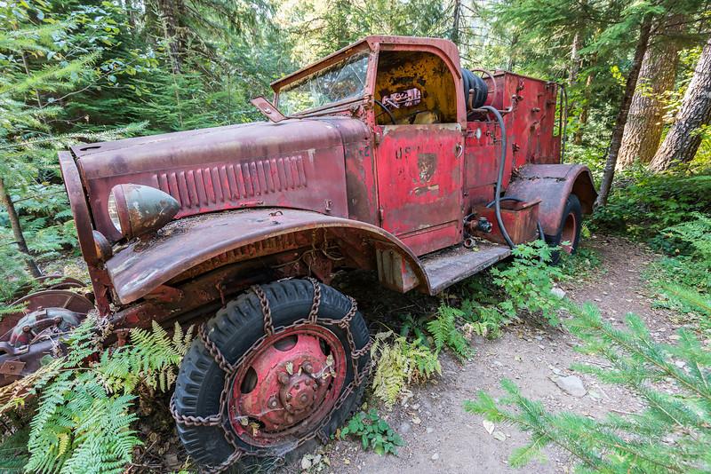 Fire truck, Jawbone Flats