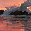 Seal Rock, stormy sunset