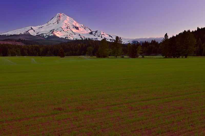 Oregon, Hood River Valley,Mount Hood, Pond, Sunset, Landscape, 俄勒冈, 胡德河流域,日落, 风景