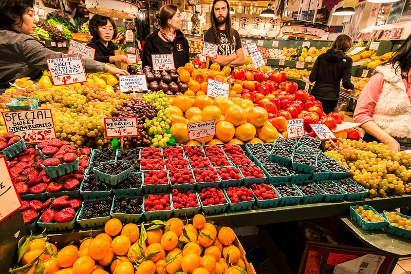 Pike Place farmer's market