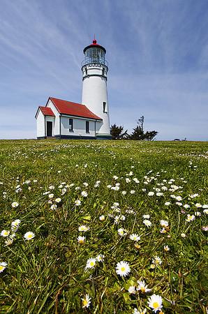 Cape Blanco Lighthouse.  Central Oregon coast.