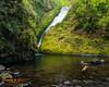 Bridal Veil Falls.  Columbia River Gorge, Oregon
