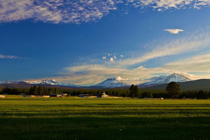 Oregon, Three Sisters, Sunset, Landscape, 俄勒冈, 三姐妹山, 夕阳, 风景
