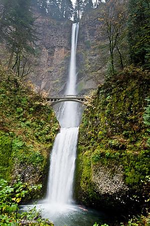 Multnomah Falls, highest in Oregon