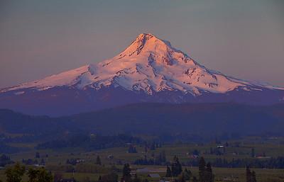 Mount Hood.  Pre-sunrise glow.