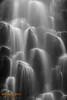 Close up of Lower Proxy Falls - B & W Conversion