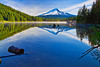 Oregon, Mount Hood, Trillium Lake, Reflection, Fog, 俄勒冈, 胡山, 雾,倒影, 风景