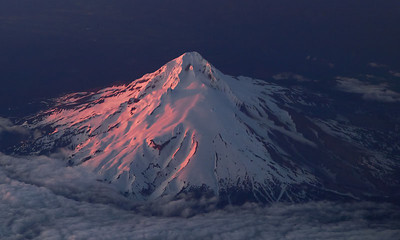 Mount Hood from air