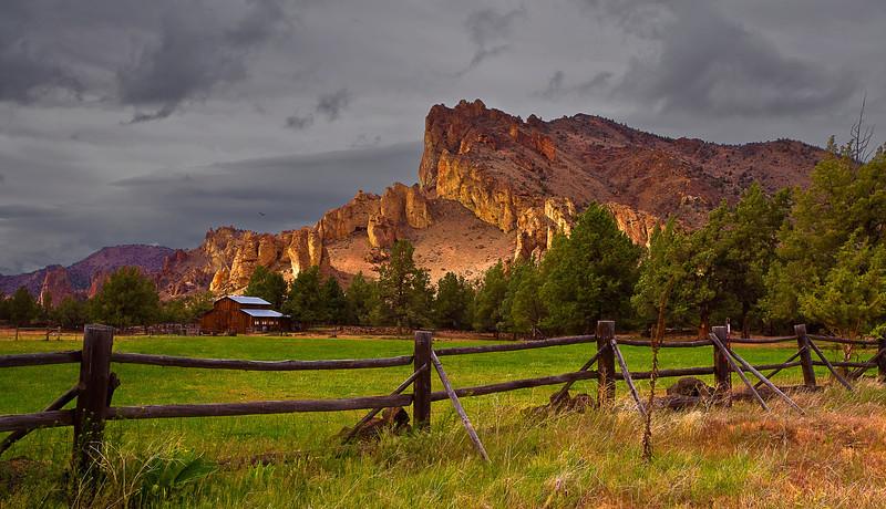 Oregen, Smith Rock State Park, Sunset, Landscape, 俄勒冈, 夕阳 风景