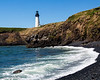 Yaquina Lighthouse & rock beach