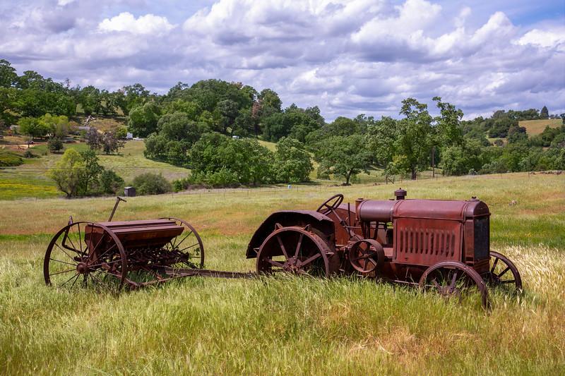 Retired Steel Wheeled Tractor - Oregon City, CA