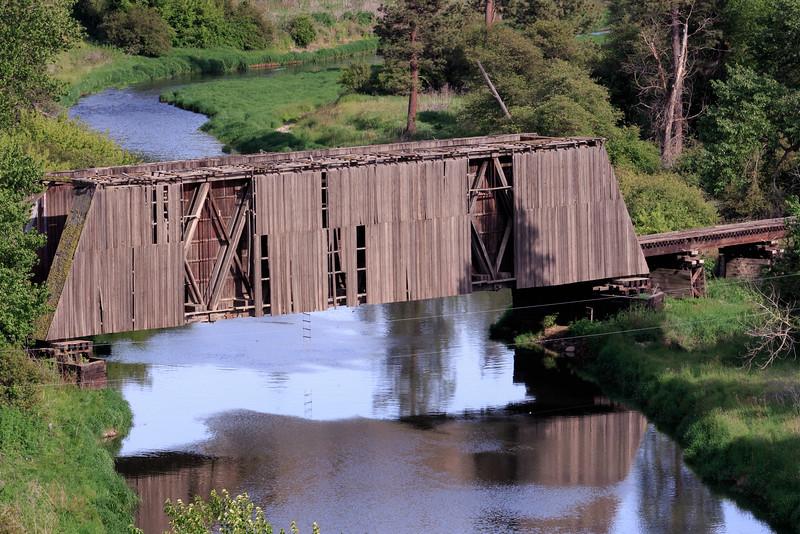Railroad Covered Bridge - Palouse Country - Eastern Washington