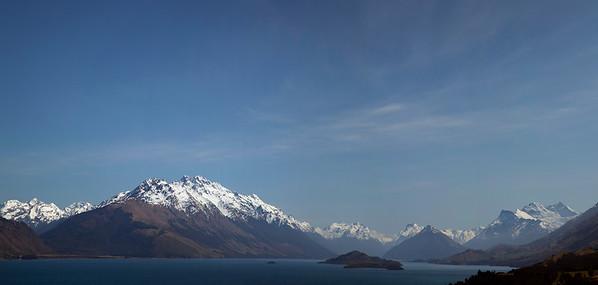Panorama - between Queenstown and Glenorche, Otago, New Zealand