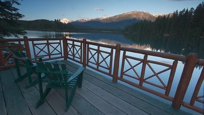 Mount Edith Cavel from Jasper Park Lodge