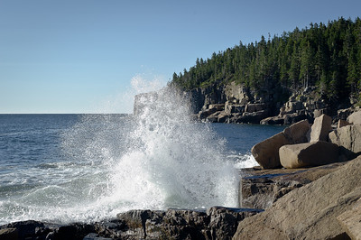 Crashing Waves at Acadia Overlook