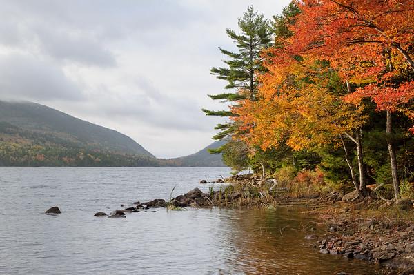 Eagle Lake Morning Foliage