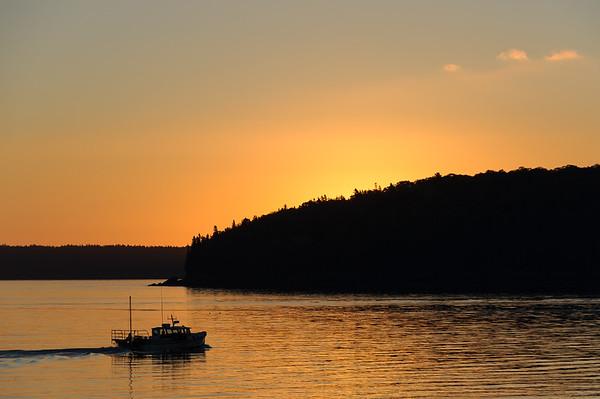 Bar Harbor Lobster Boat at Sunrise