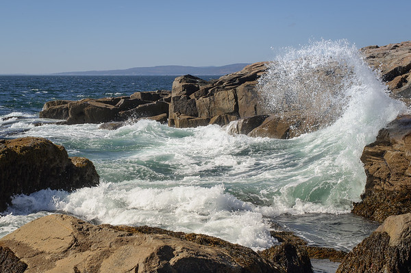 Schoodic Point Crashing Waves