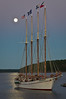 Full Moon on Schooner Margaret Todd