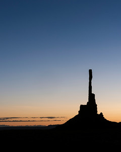 Totem Pole at First Light in Navajo Tribal Park