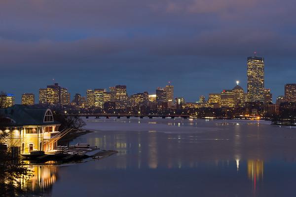 """Boston Skyline from BU Bridge"" Boston, Massachusetts"