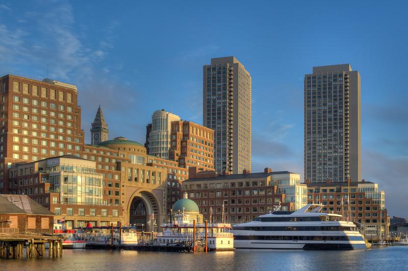 Rowe's Wharf at Sunrise