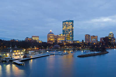 """Boston Skyline from Longfellow Bridge"" Boston, Massachusetts"