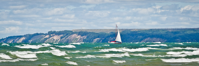 """Racing for Port"" Pentwater, Michigan"