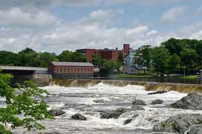 """Merrimack River Waterfall"" Lowell, Massachusetts"