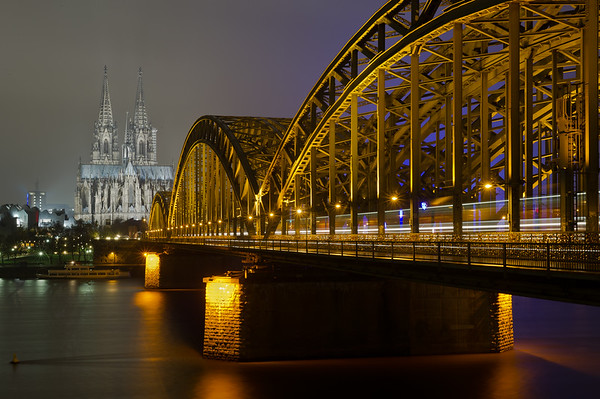 Hohenzollern Bridge at Night