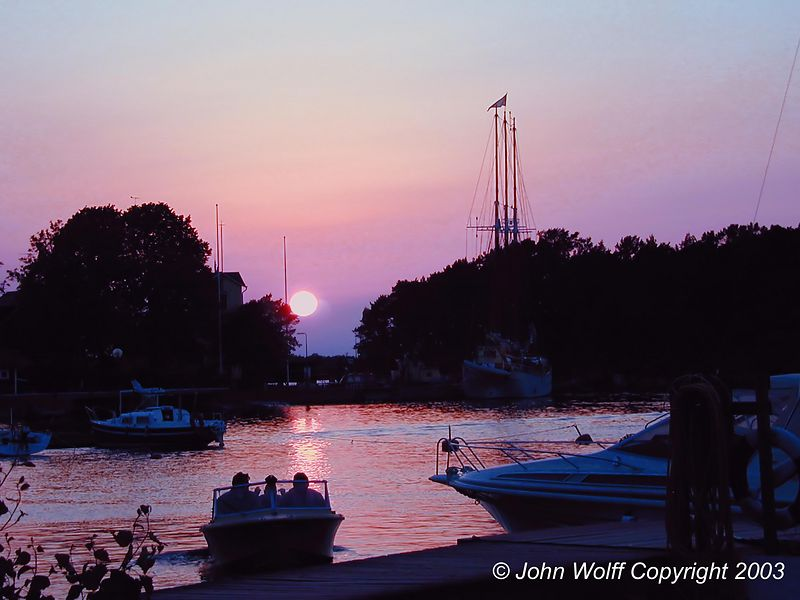 <b> Sunset Baltic Island near Stockholm, Sweden </b>
