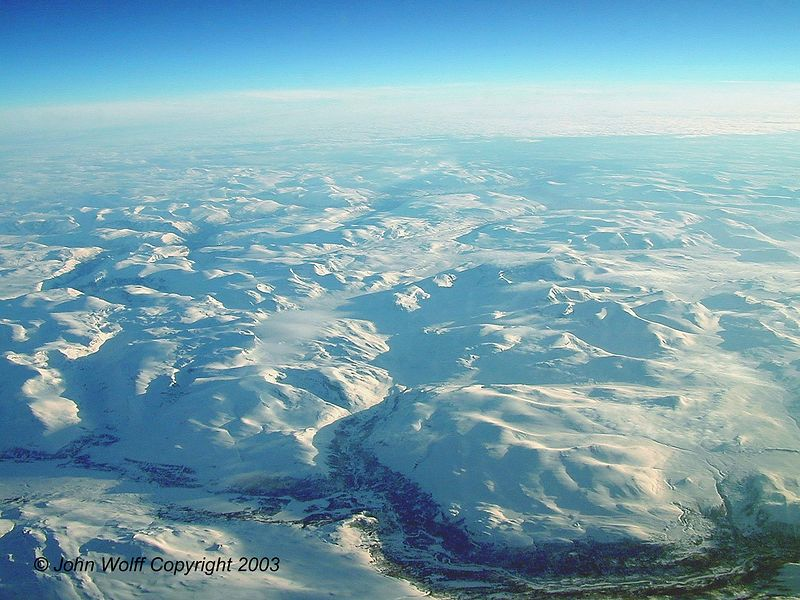 <b>  Artic Region - from airplane over Norway </b>