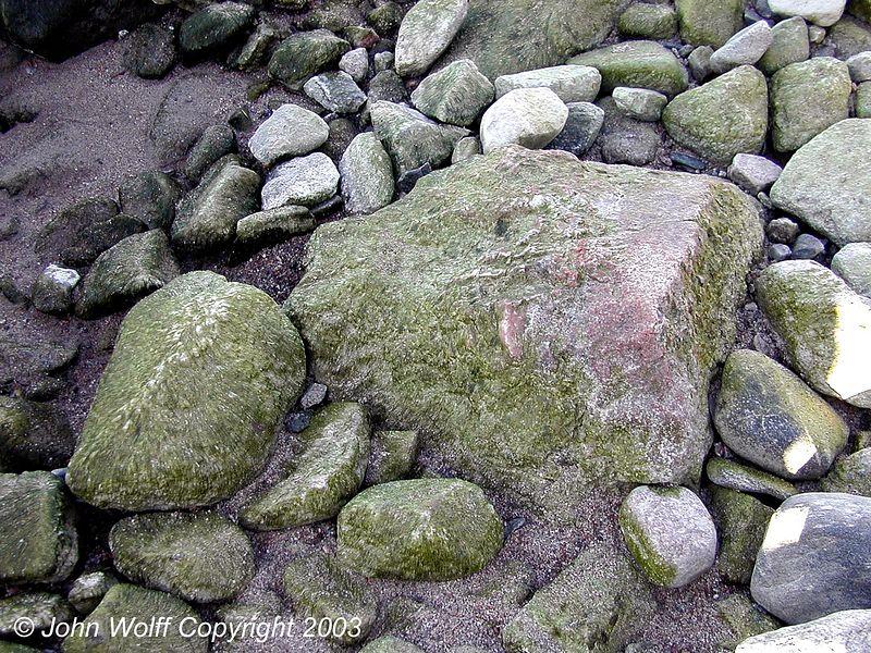 <b> Pastel colored rocks, Baltic Seashore near Stockholm </b>