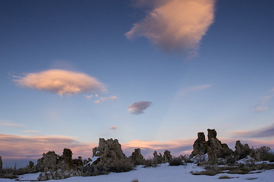 Lanticular Clouds over Mono Lake