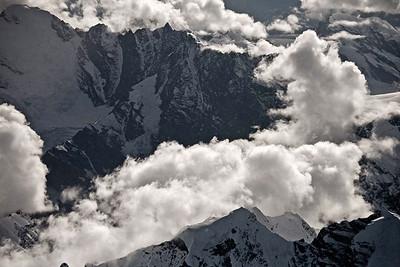Ariel View of Alaskan Peaks