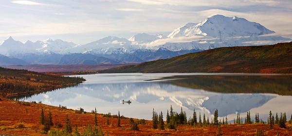 Canoe on Wonder Lake