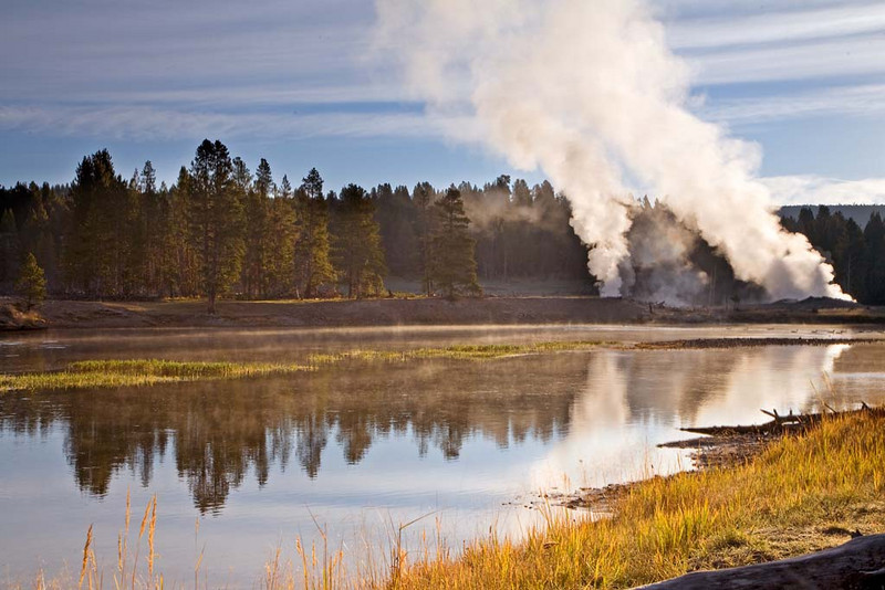 Moring along Yellowstone River