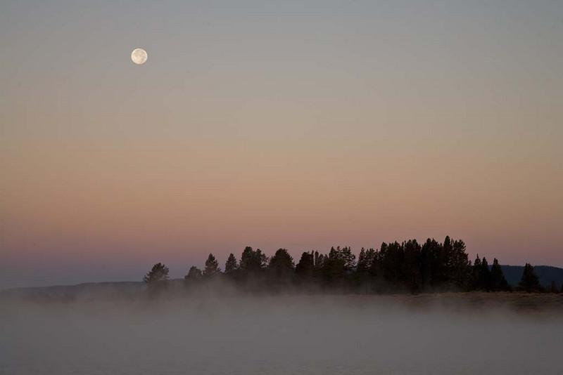 Moon Set Over Indian Pond