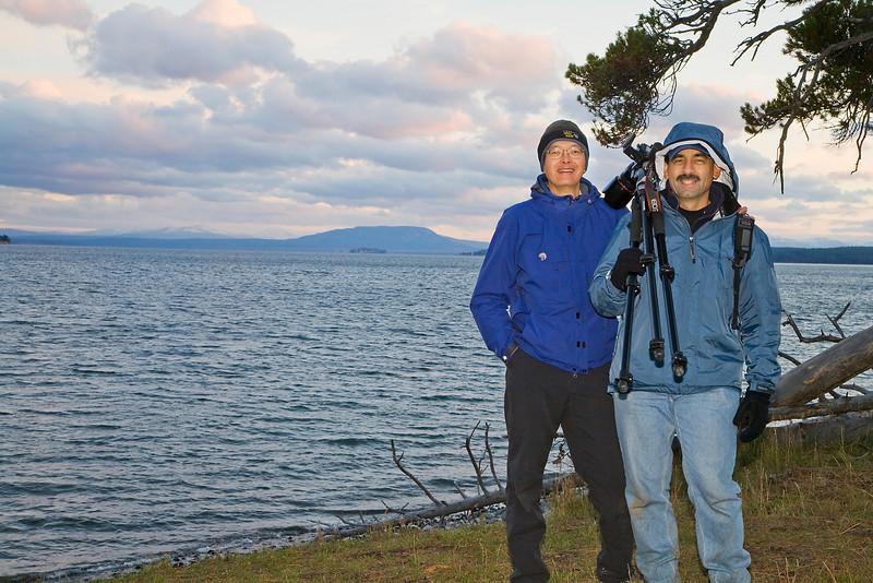 John and I at Lake Yellowstone