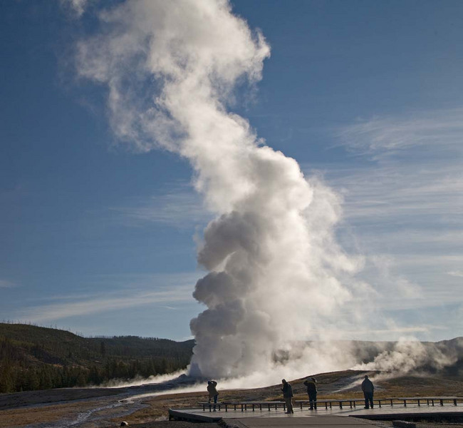 Watching the Old Faithful Eruption