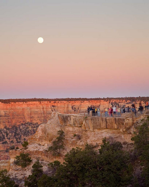Moon Rise over Mather's Point, Grand Canyon NP